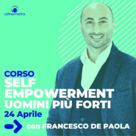 24 aprile Self con Francesco de paola